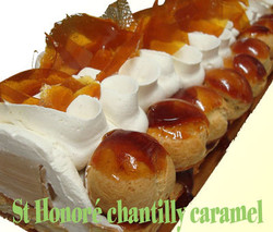 St Honoré Chantilly caramel